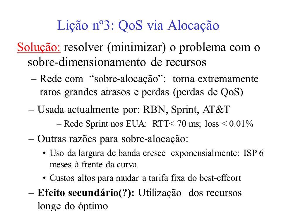 Lição nº3: QoS via Alocação