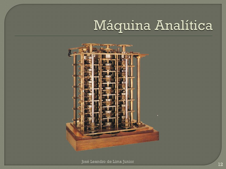 Máquina Analítica José Leandro de Lima Junior