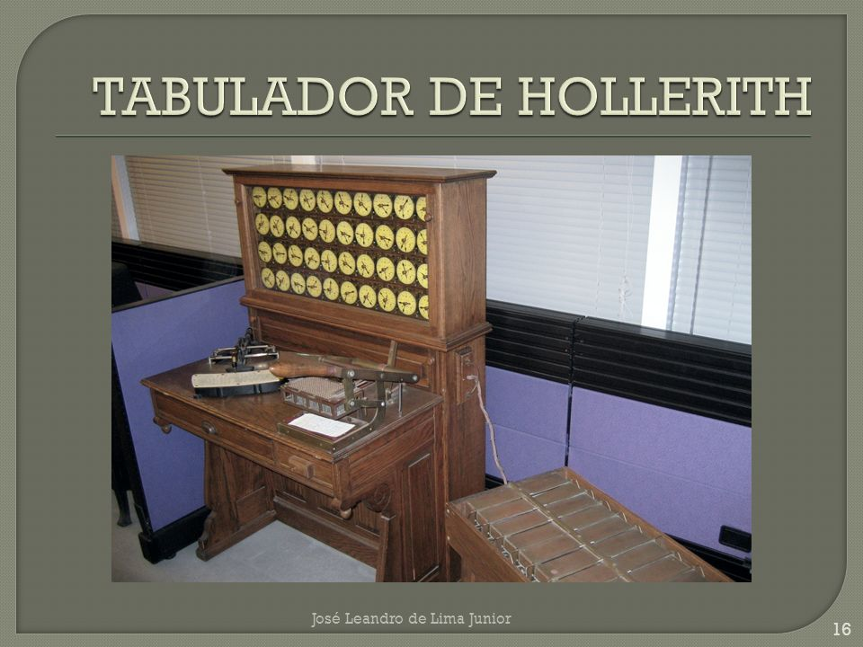 TABULADOR DE HOLLERITH