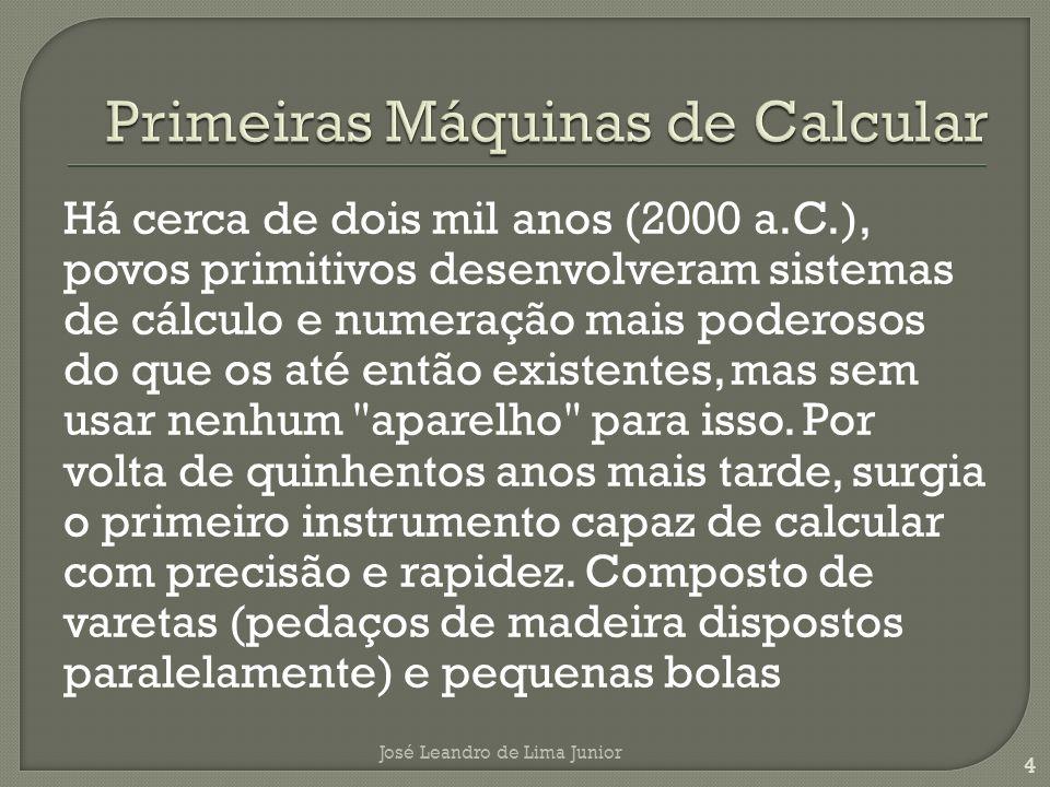 Primeiras Máquinas de Calcular