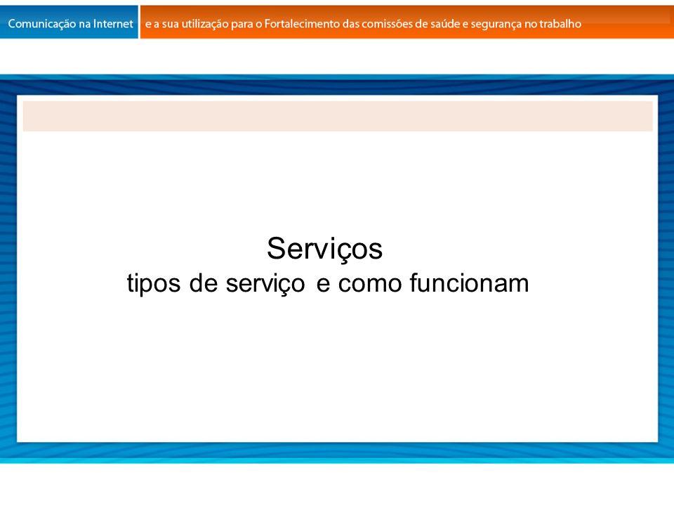 Serviços tipos de serviço e como funcionam