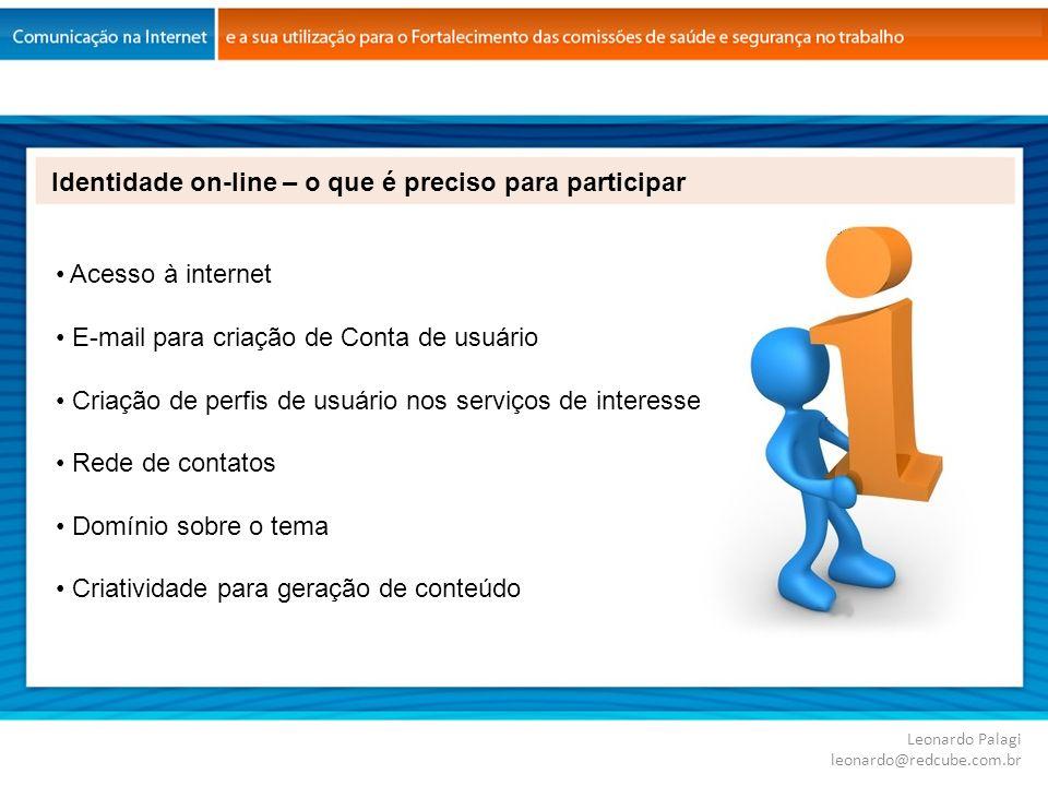 Identidade on-line – o que é preciso para participar