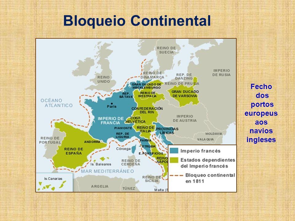 Bloqueio Continental Fecho dos portos europeus aos navios ingleses