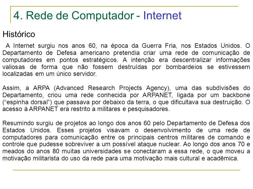 4. Rede de Computador - Internet