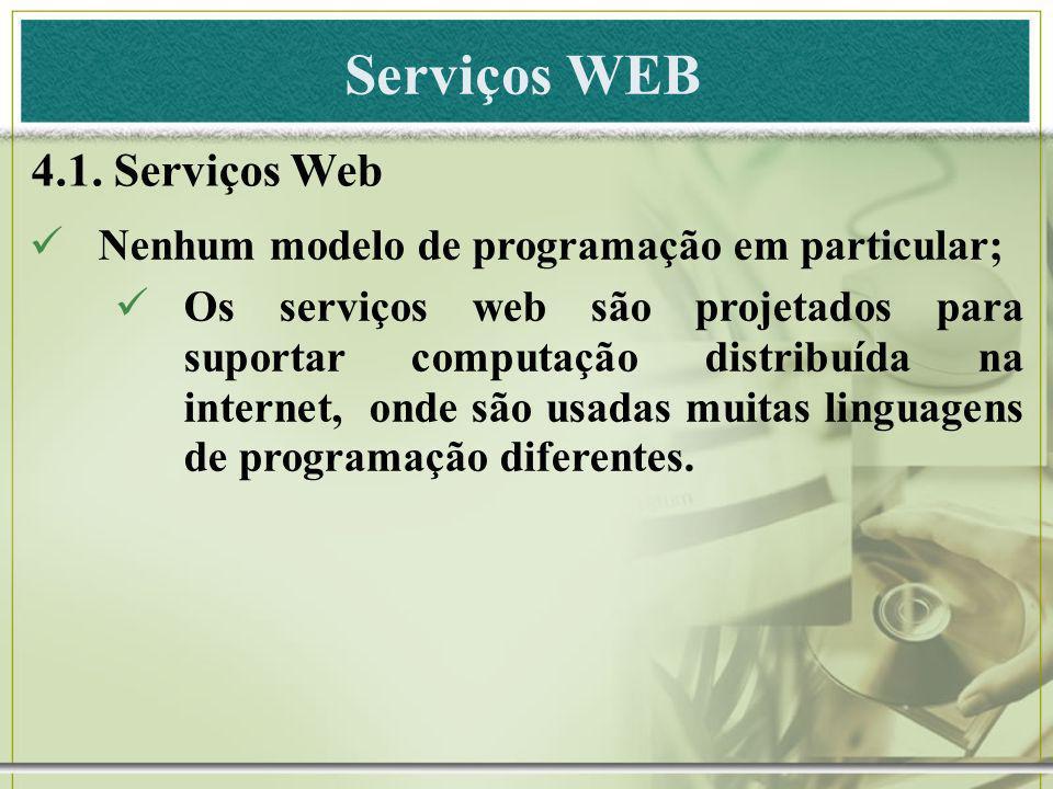 Serviços WEB 4.1. Serviços Web