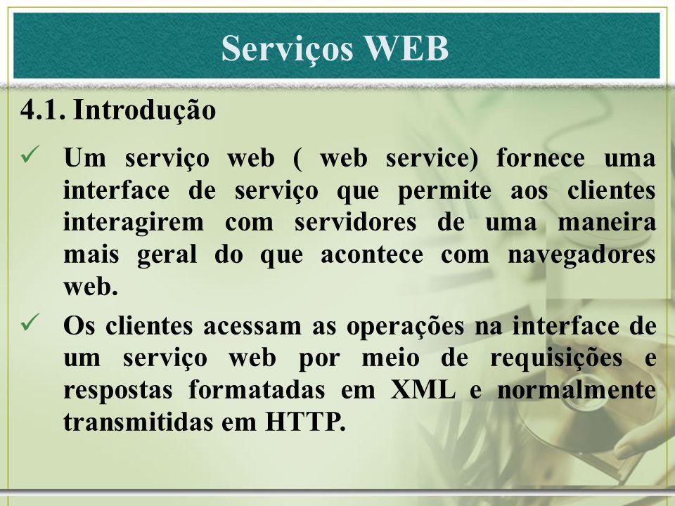 Serviços WEB 4.1. Introdução
