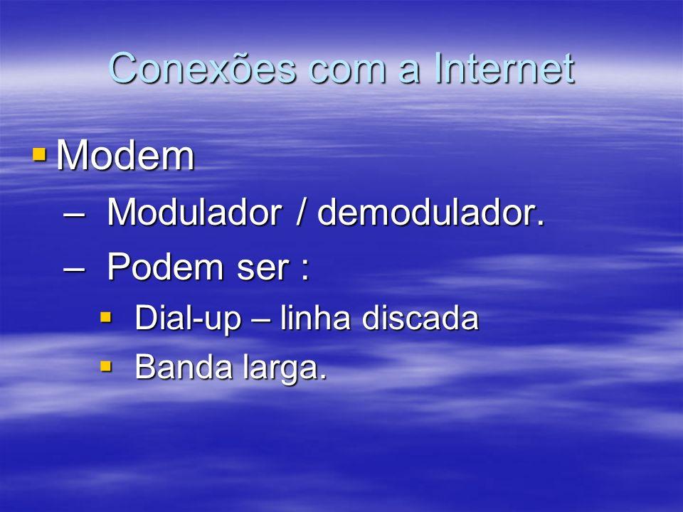 Conexões com a Internet