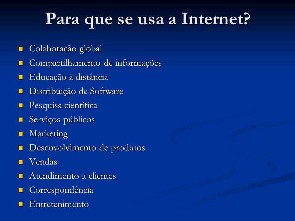Para que se usa a Internet