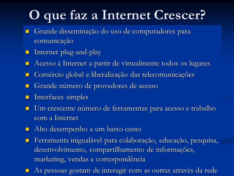 O que faz a Internet Crescer
