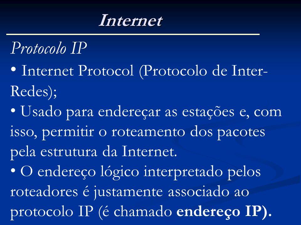 Internet Protocol (Protocolo de Inter-Redes);