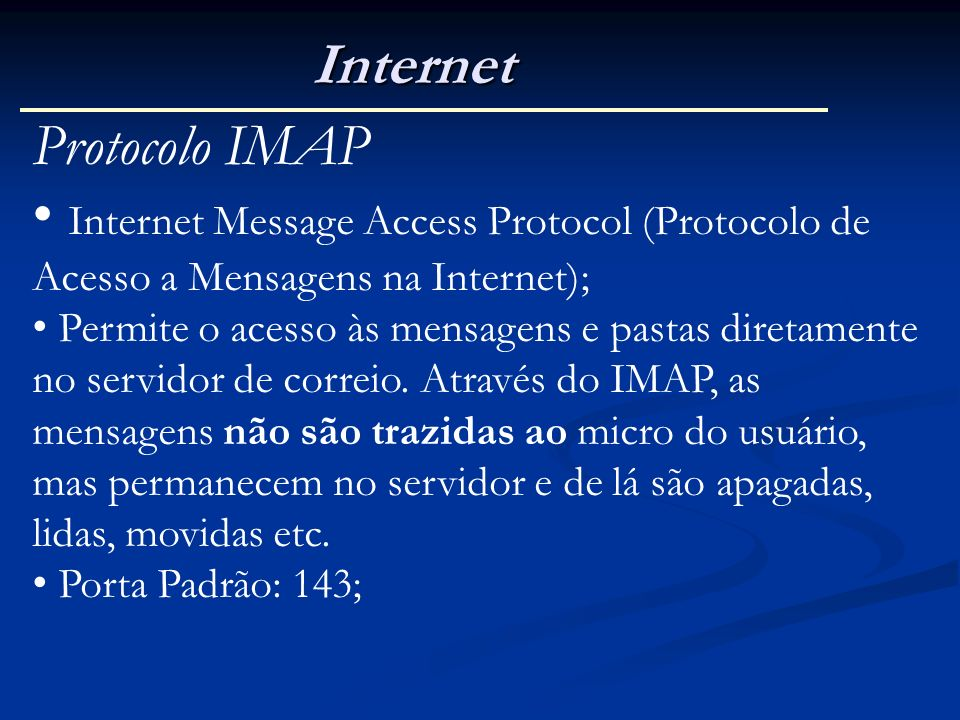 Internet Protocolo IMAP