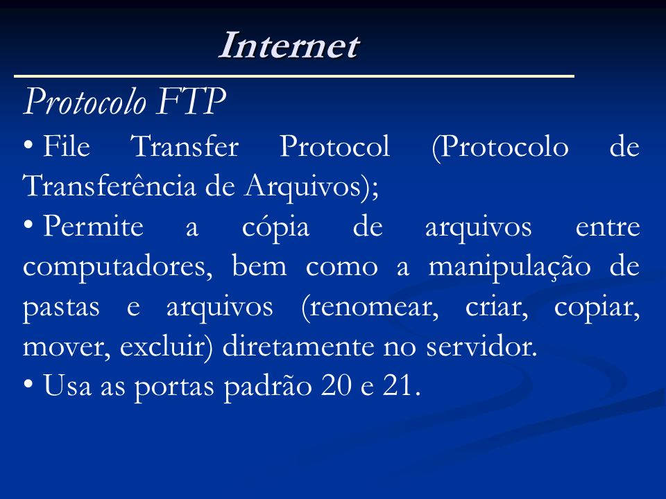 Internet Protocolo FTP