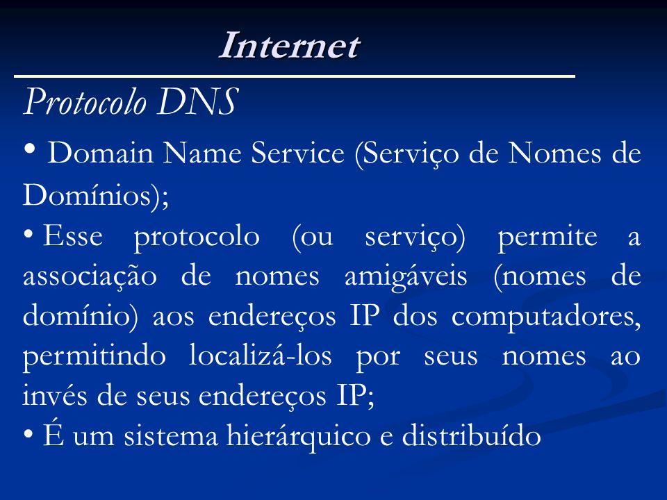 Domain Name Service (Serviço de Nomes de Domínios);