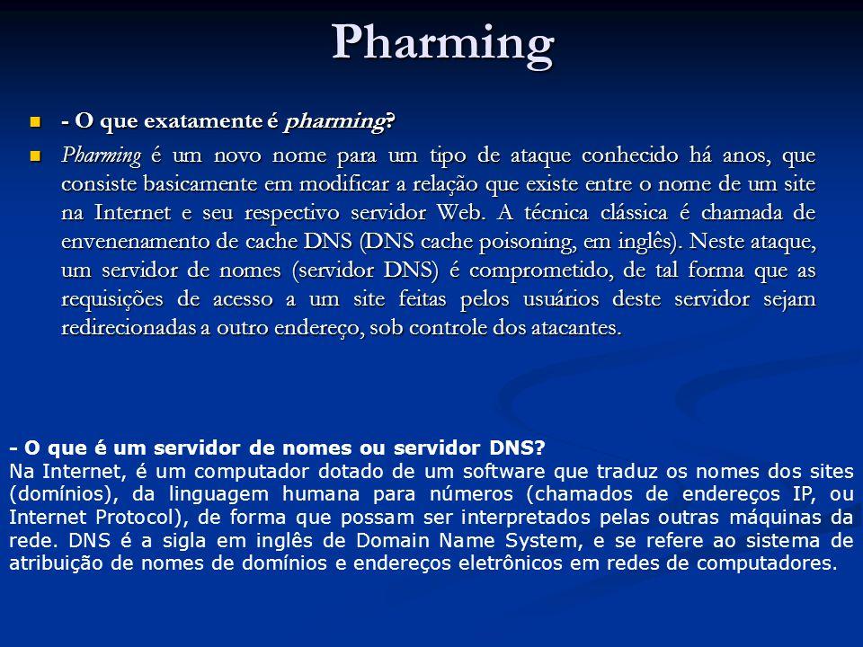 Pharming - O que exatamente é pharming