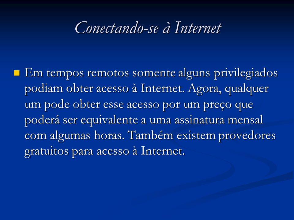 Conectando-se à Internet