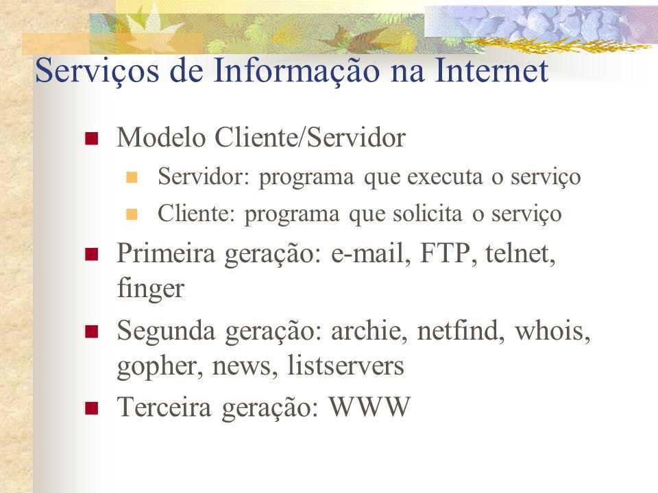 Serviços de Informação na Internet