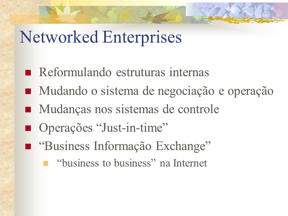 Networked Enterprises