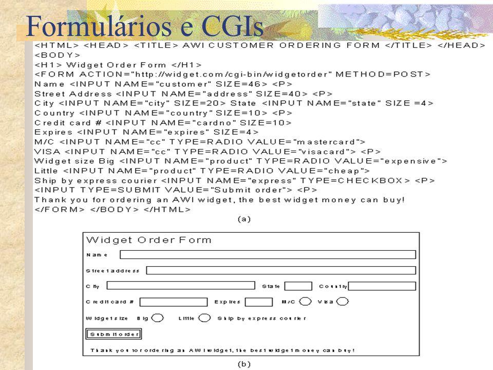 Formulários e CGIs