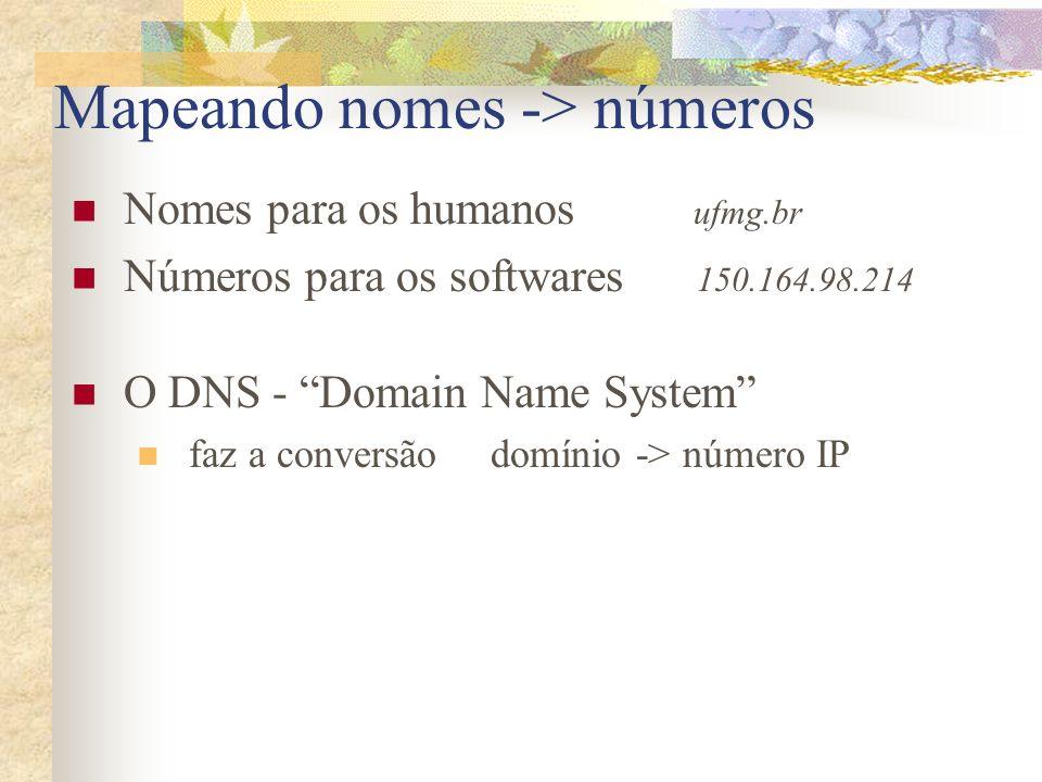 Mapeando nomes -> números