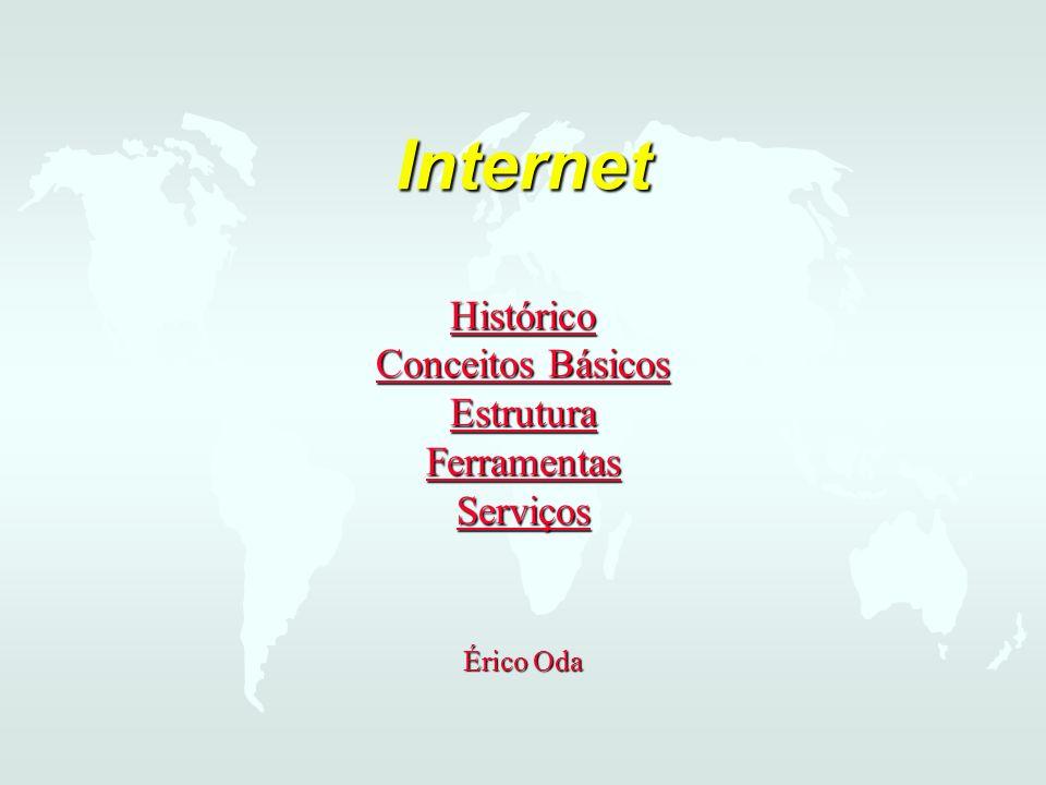Internet Histórico Conceitos Básicos Estrutura Ferramentas Serviços