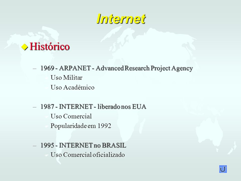 Internet Histórico 1969 - ARPANET - Advanced Research Project Agency
