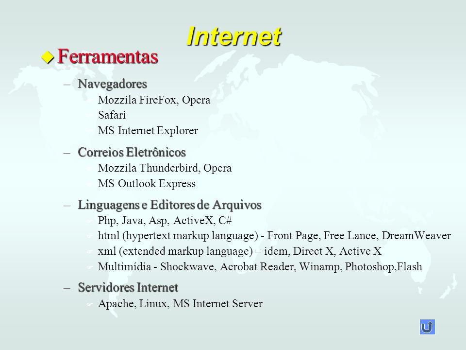 Internet Ferramentas Navegadores Correios Eletrônicos