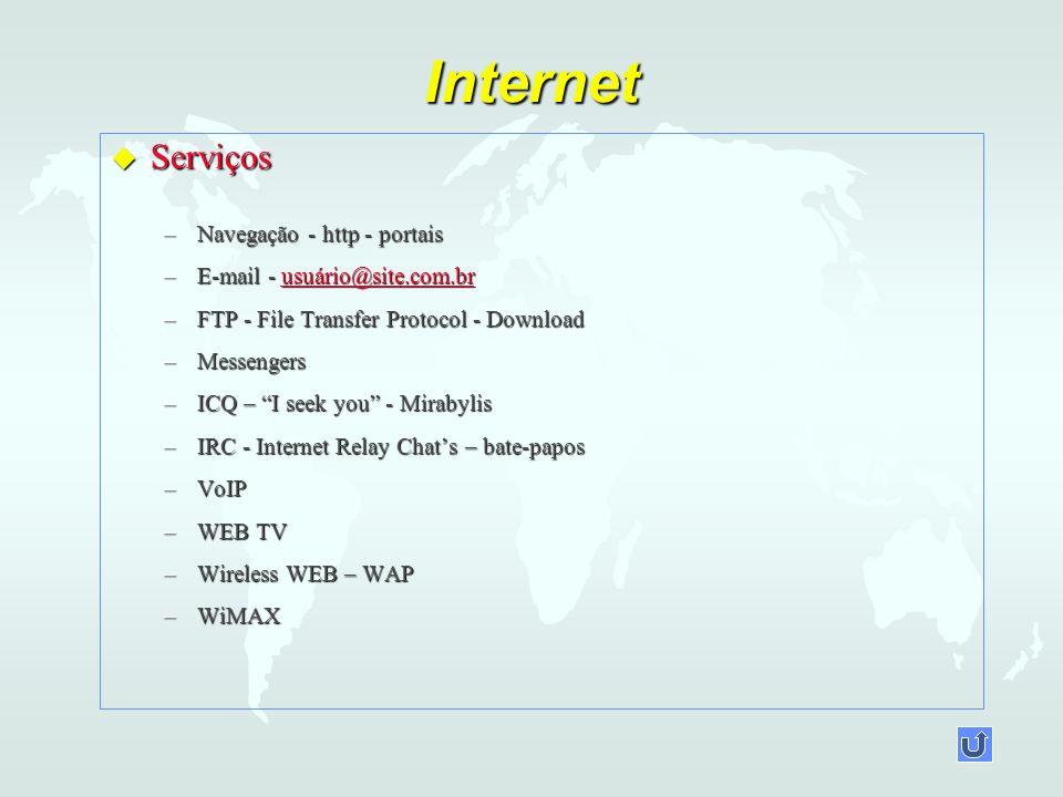 Internet Serviços Navegação - http - portais