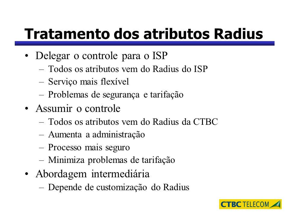 Tratamento dos atributos Radius