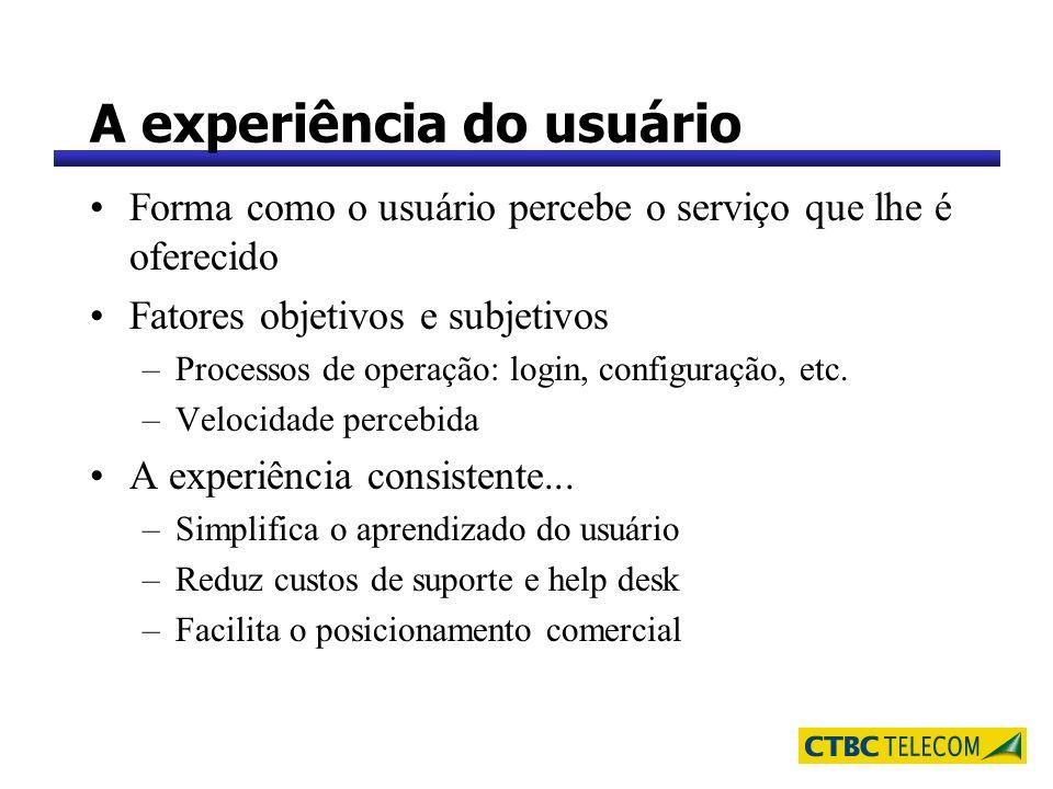 A experiência do usuário