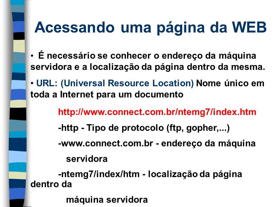 Acessando uma página da WEB