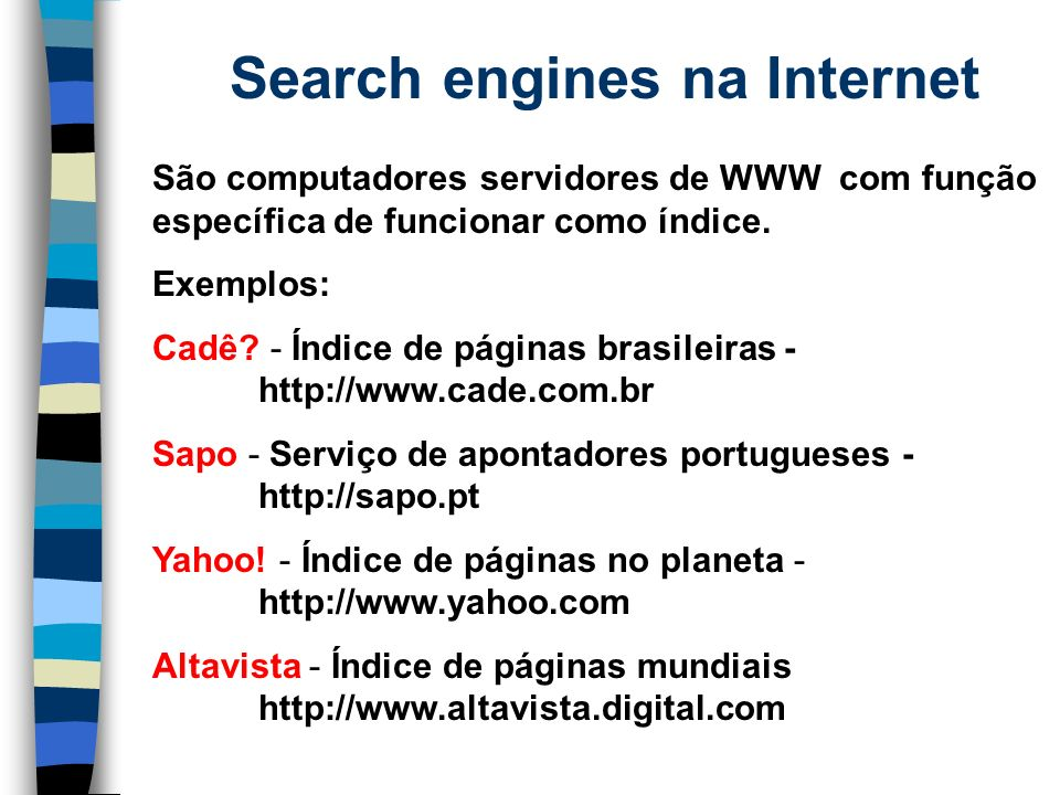 Search engines na Internet