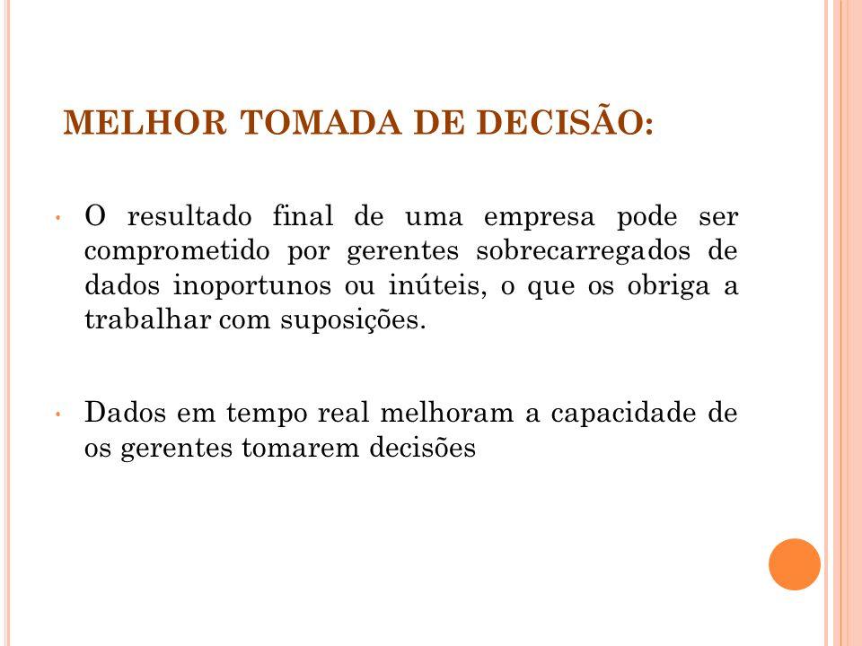 MELHOR TOMADA DE DECISÃO: