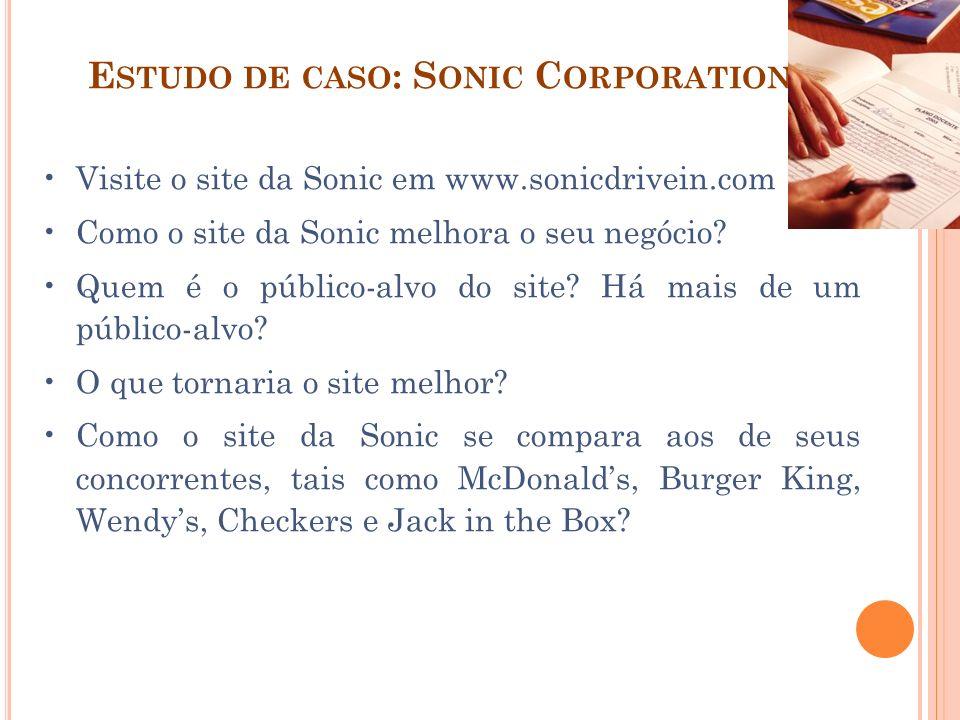 Estudo de caso: Sonic Corporation