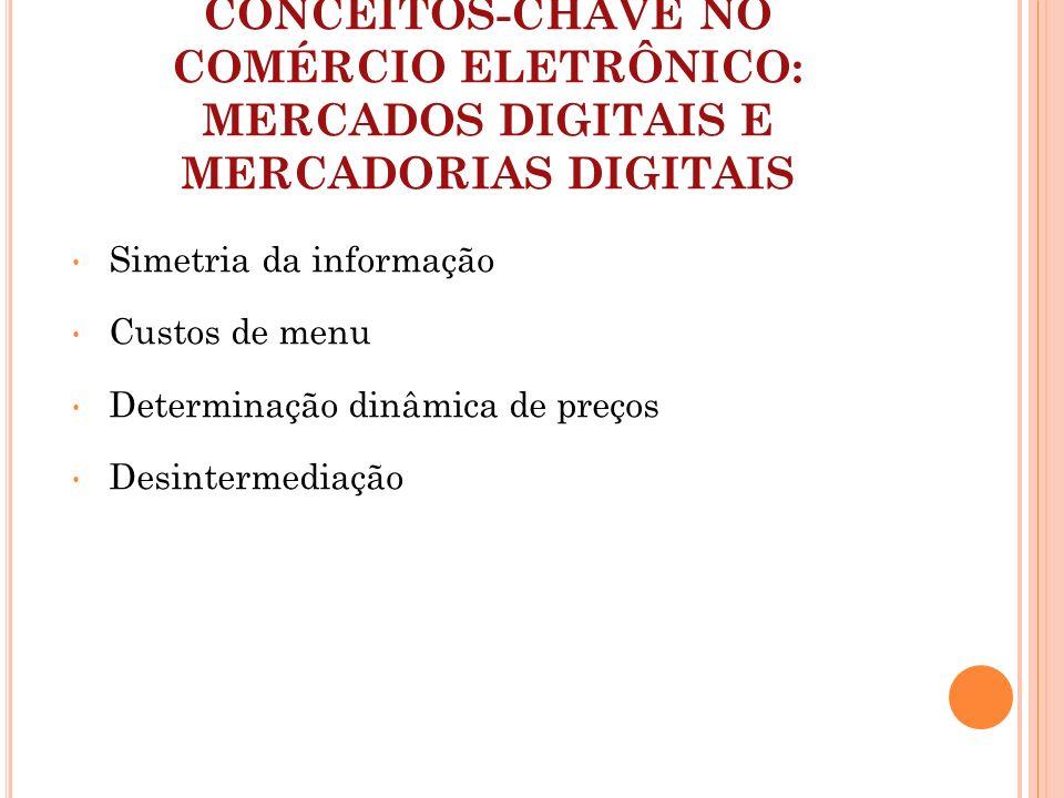 CONCEITOS-CHAVE NO COMÉRCIO ELETRÔNICO: MERCADOS DIGITAIS E MERCADORIAS DIGITAIS