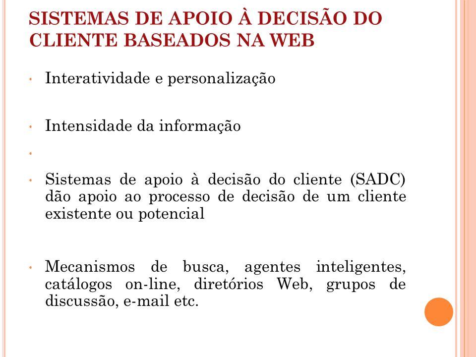 SISTEMAS DE APOIO À DECISÃO DO CLIENTE BASEADOS NA WEB