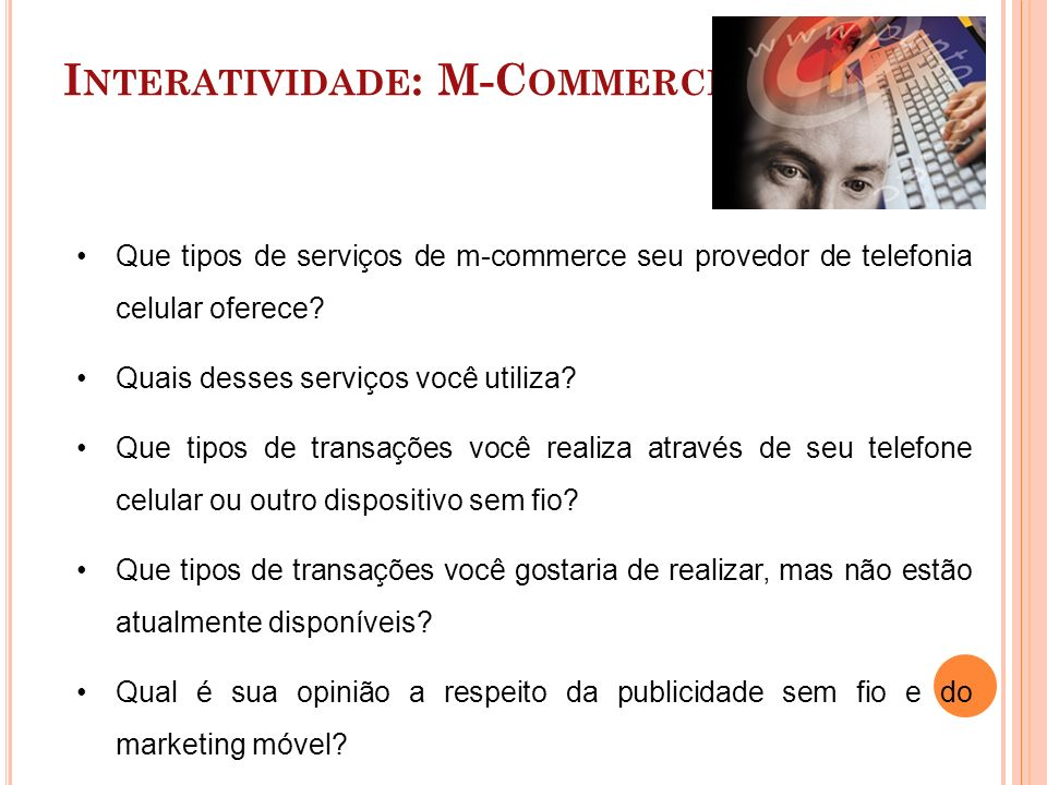 Interatividade: M-Commerce