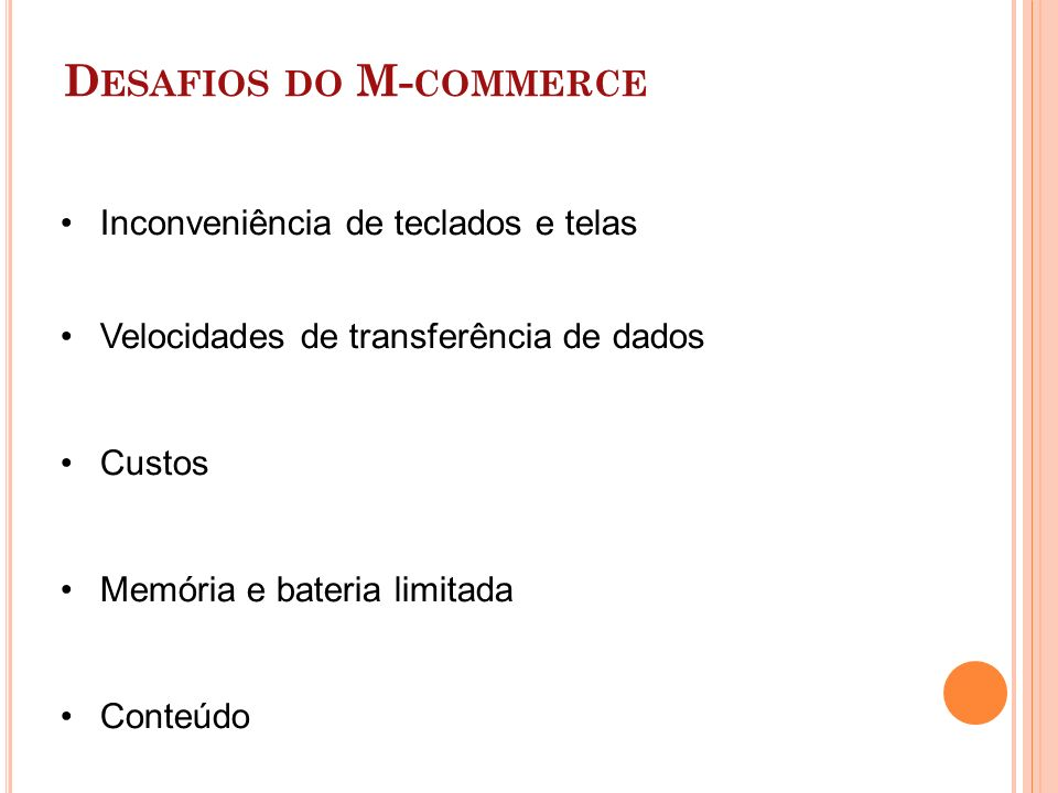 Desafios do M-commerce