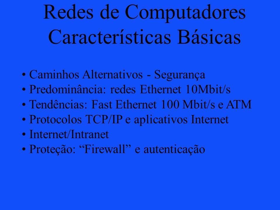 Redes de Computadores Características Básicas