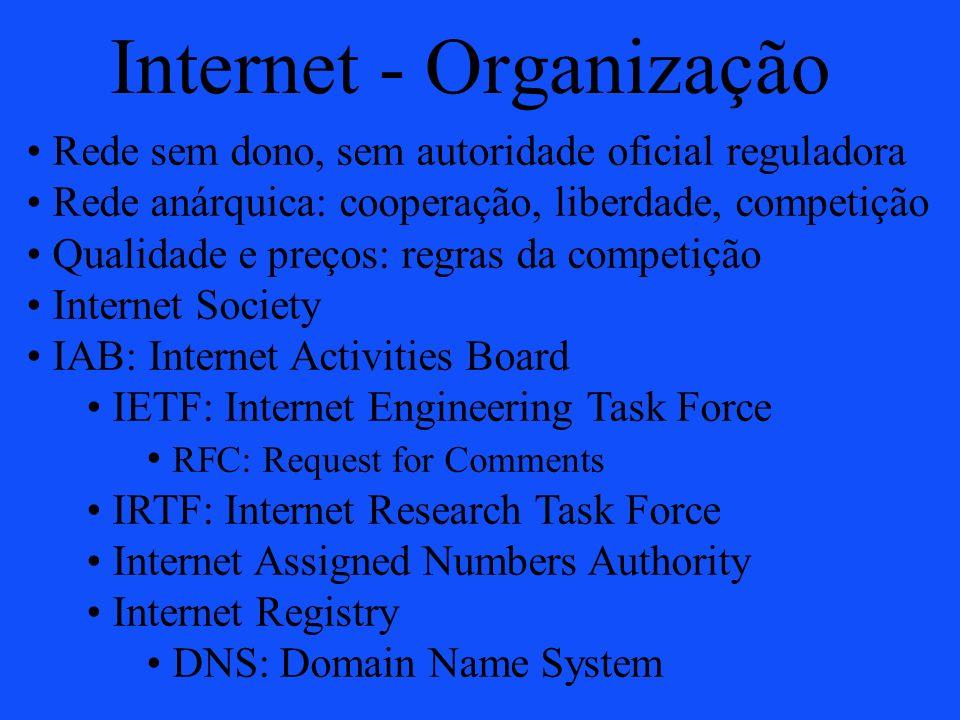 Internet - Organização