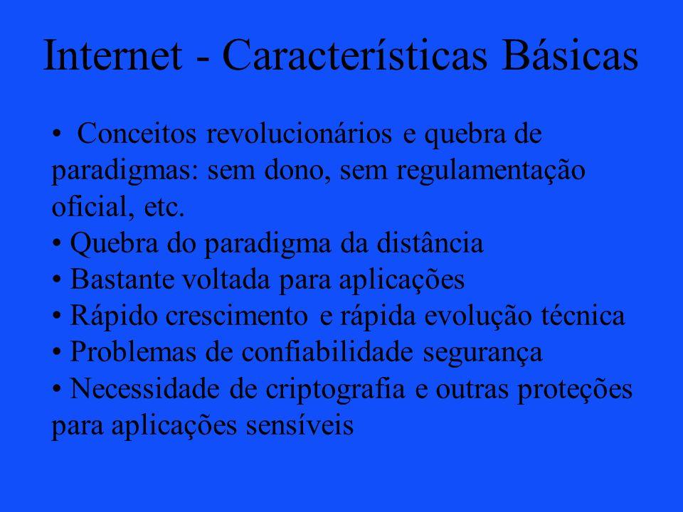 Internet - Características Básicas