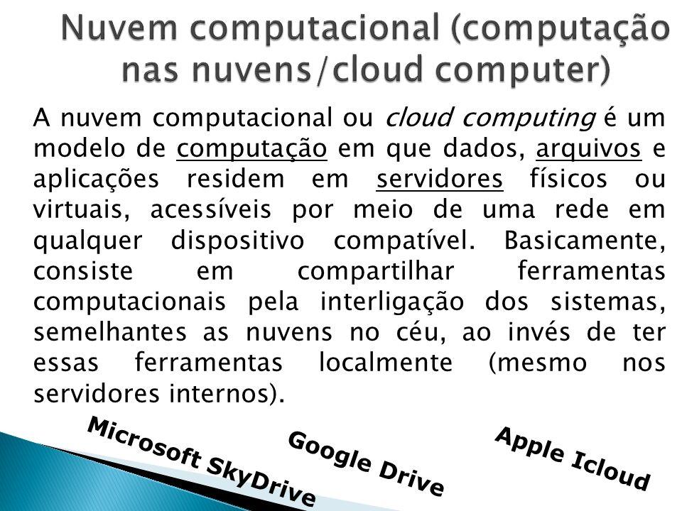 Nuvem computacional (computação nas nuvens/cloud computer)