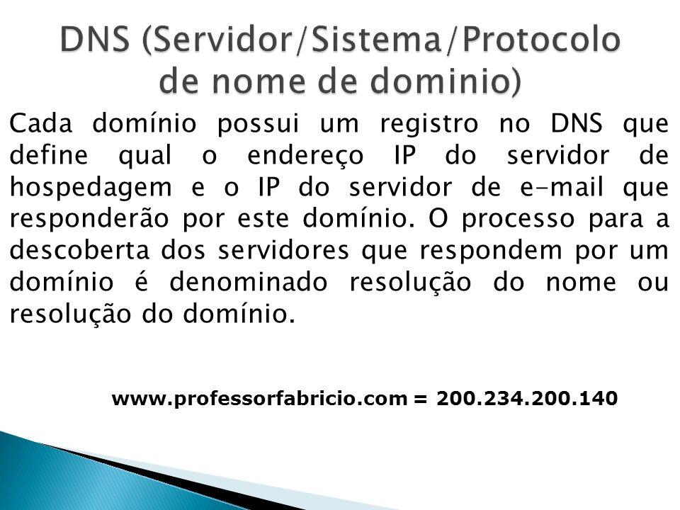 DNS (Servidor/Sistema/Protocolo de nome de dominio)