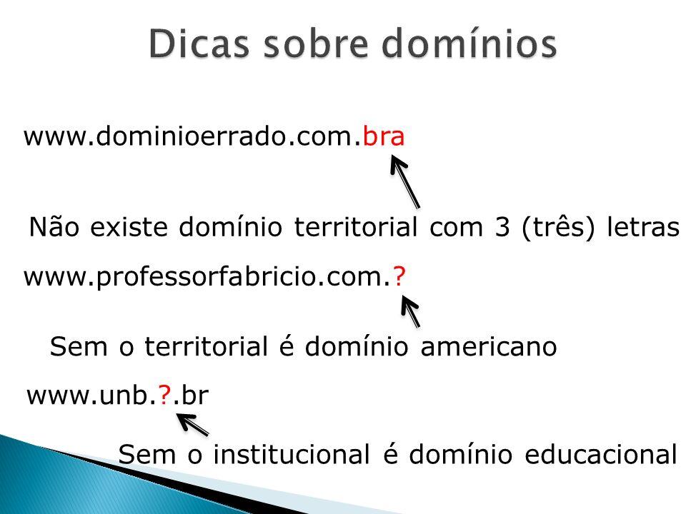 Dicas sobre domínios www.dominioerrado.com.bra
