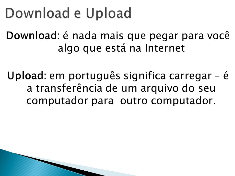 Download e Upload