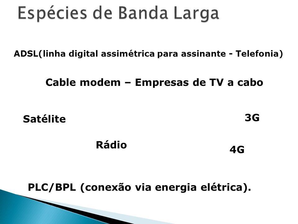 Espécies de Banda Larga