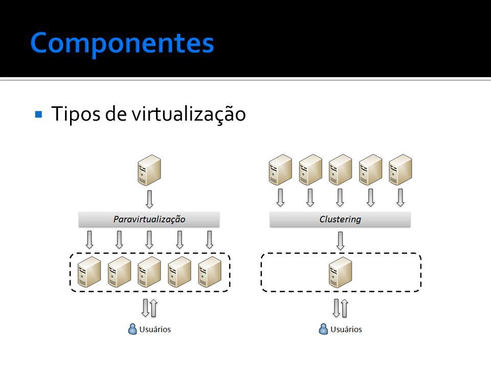 Componentes Tipos de virtualização