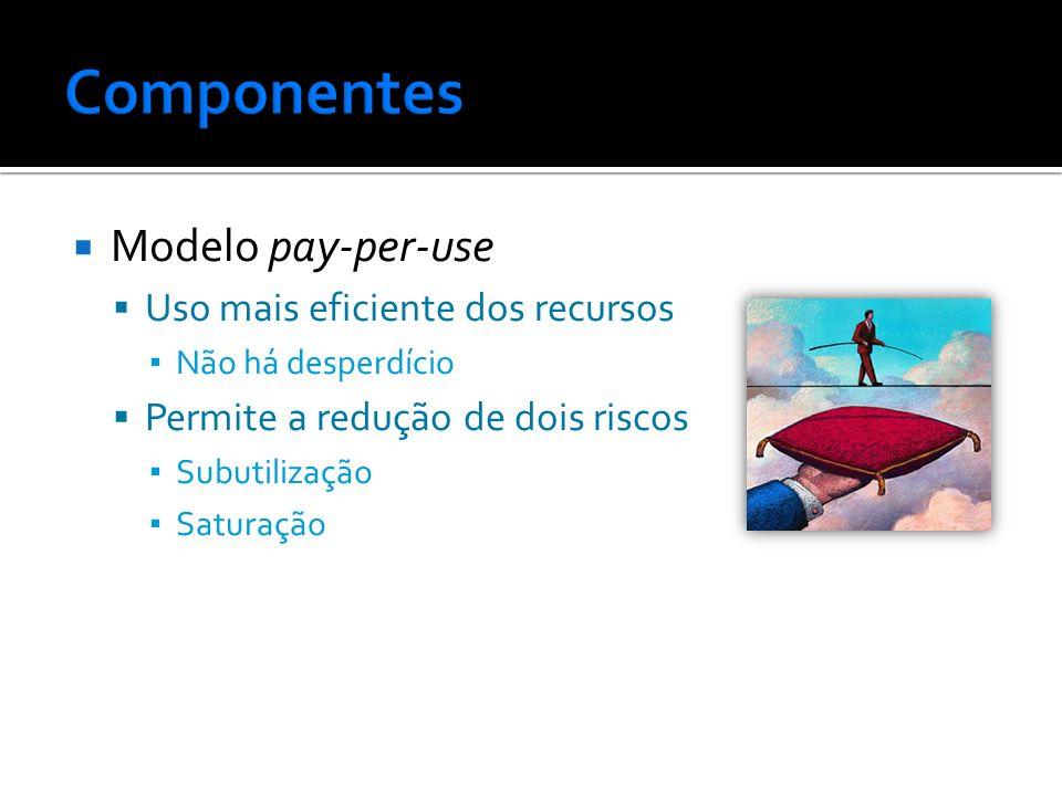 Componentes Modelo pay-per-use Uso mais eficiente dos recursos