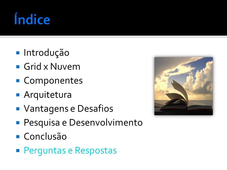 Índice Introdução Grid x Nuvem Componentes Arquitetura