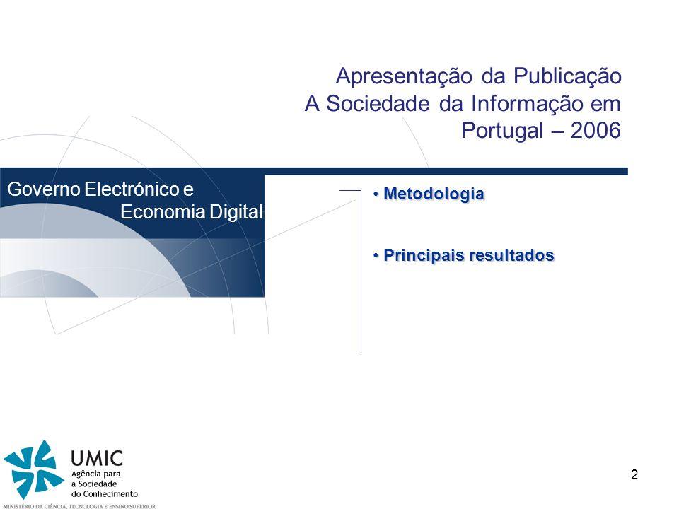 Apresentação da Publicação A Sociedade da Informação em Portugal – 2006