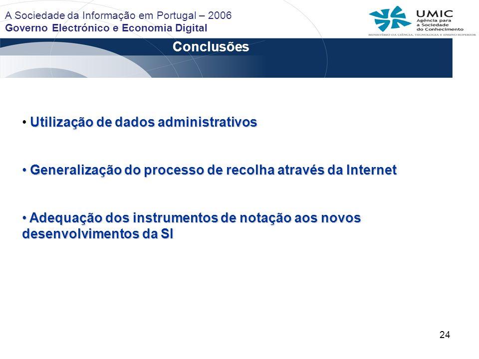 Utilização de dados administrativos